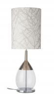 Ebb&Flow - Lute lampefot, Klar/platin, Sølv base
