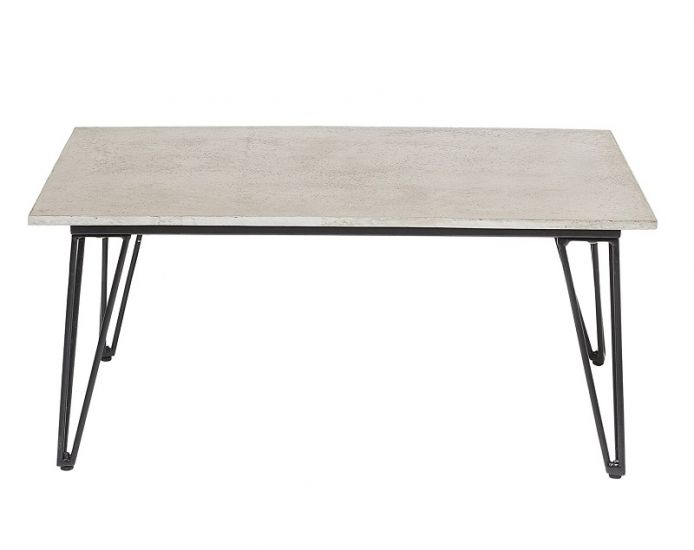 Bloomingville - Sofabord 90x60 - Grå/svart