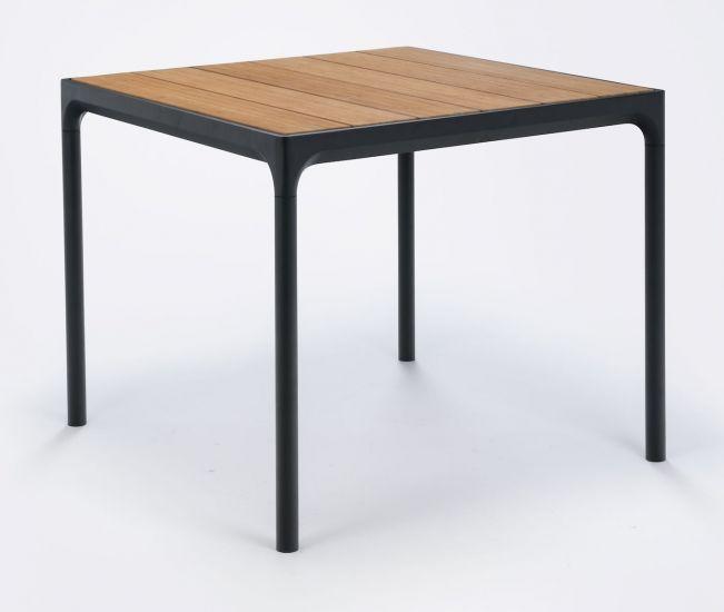 HOUE - FOUR Hagebord 90x90 cm - Bambus Topp