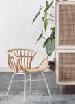 Kave Home - Constant Spisebordsstol m. armlæn - Natur