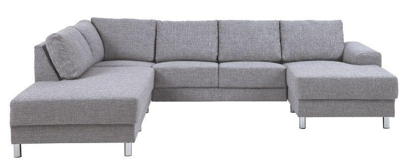 Johnston U-sofa - Grått stoff - Venstre