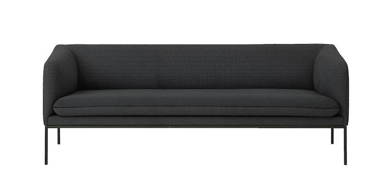 ferm LIVING - Turn Sofa 3 Bomull - Solid Mørkgrå