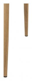 Selma Spisebordsstol - lysegrå med metall ben i eiklook