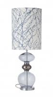 Ebb&Flow - Futura lampefot, deep blue, Sølv base