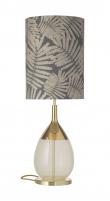 Ebb&Flow - Lute lampefot, alabaster/Gull, Gull base