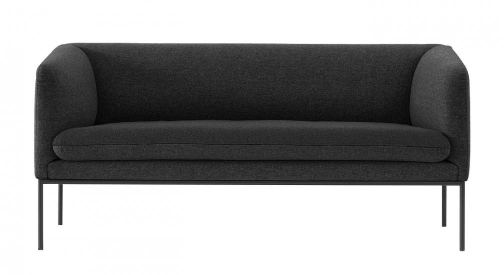 Ferm - Turn Sofa 2 - Ull - Solid Mørk Grå