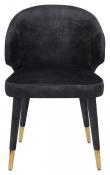Dutchbone Lunar Spisebordstol - Mørkegrå Velour