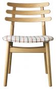 FDB Møbler J48 Spisebordstol - Eik/Ternet stoff