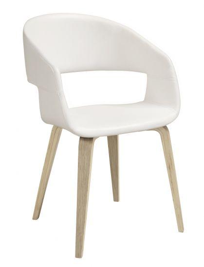 Nova Spisebordstol - Hvit Kunstlær