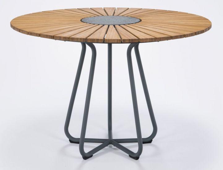 HOUE - CIRCLE Hagebord Ø110 - Bambus/Alu