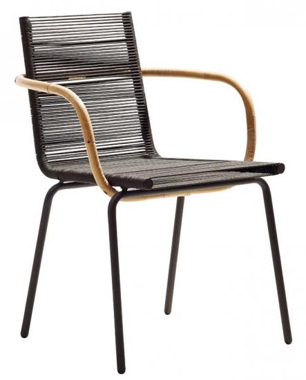 Cane-line - SIDD Spisebordsstol m/arm - Brun