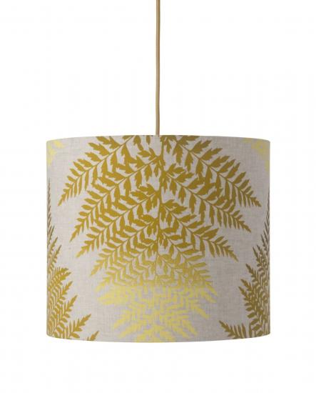 Ebb&Flow - Lampeskjerm, fern leaves graphic, okker, Ø35