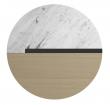 Temahome Sonata Sidebord - Hvid Marmor/Lys Eg, Ø50