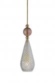 Ebb&Flow - Smykke pendel, Krystall m. obsidian ball, Gull