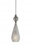 Ebb&Flow - Smykke pendel, Krystall m. smokey grå ball