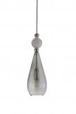 Ebb&Flow - Smykke pendel, smokey grå m. Krystall ball