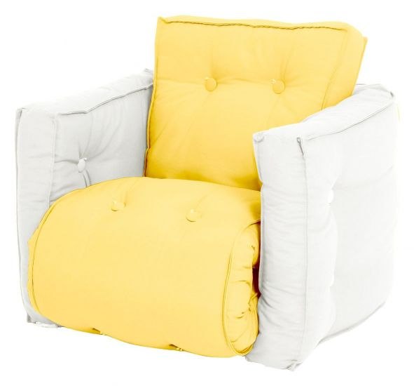 Mini Dice Barnestol, Natur/Yellow