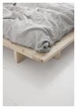 Japan Sengeramme Hvid, Latex Futon madrass, Sort, 140X200