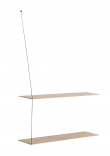 WOUD - Stedge Hylle, Hvitpigment eik, 2 Hyller, 80cm