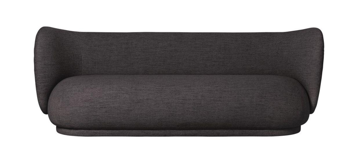 Ferm Living - Rico 3-pers. Sofa - Warm grey bouclé