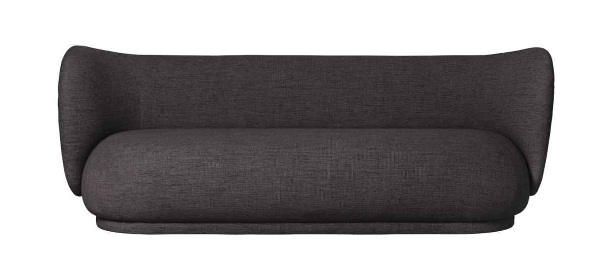 Ferm Living - Rico 3-pers. Sofa - Warm grey bouclé
