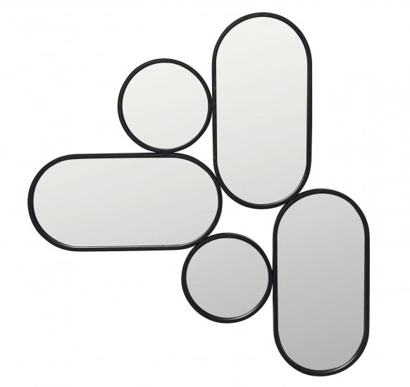 Parko Spejl - Sort ramme, 65,4x61,5