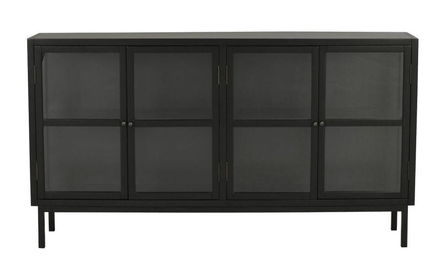 Marshalle Sjenk m. 4 dører, sort Gummitre
