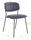 Alicante Spisebordstol - Blåt Stoff