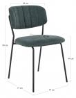 Alicante Spisebordstol - Mørkegrønt Stoff