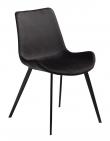 DAN-FORM - Hype Spisebordsstol, meteorite svart fløyel, svarte ben