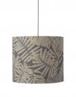 Ebb&Flow - Lampeskjerm, fern leaves wild, grå glitter, Ø35