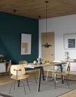 Temahome - Drift Spisebord 180x91 - Lys egefinér/Svart