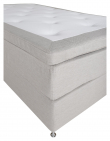 Furudal 7-zoner Kontinentalseng Medium, Beige stoff, 120x200