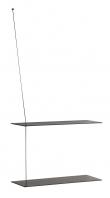 WOUD - Stedge Hylle, sortmalet eik, 2 Hyller, 60cm