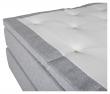 Furudal 7-zoner Kontinentalseng Fast/Fast, Lysegrå stoff, 160x200