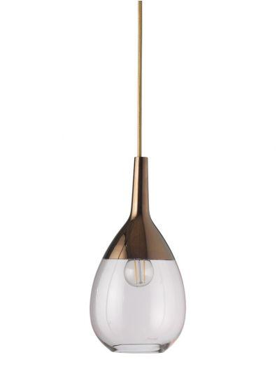 Ebb&Flow - Lute pendel, S, coral / copper