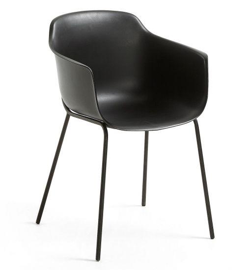 Kave Home - Khasumi Spisebordsstol i plast - Sort