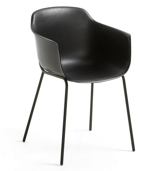 LaForma - Khasumi Spisebordsstol i plast - Sort