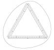 Cane-line - Bordplate til Wave stel - Glas