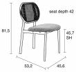 Zuiver Spike Spisebordstol - Rotting/Grå
