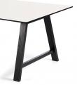 Andersen Furniture - T1 Spisebord m. Uttrekk og svarte ben - 160cm