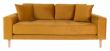 Lido 2,5-pers, Sofa - Sennepsgul Velour