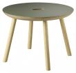 FDB Møbler D105 Gesja Sidebord - Eik/Oliven Linoleum, Ø50