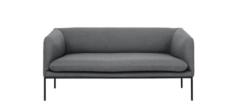 ferm LIVING - Turn Sofa 2 Fiord - Solid Grå