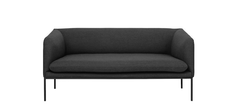 ferm LIVING - Turn Sofa 2 Fiord - Solid Mørkgrå