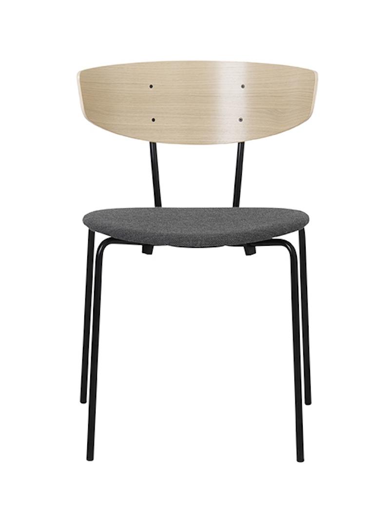 Ferm - Herman Chair - Spisebordsstol Grå polstret ferm LIVING